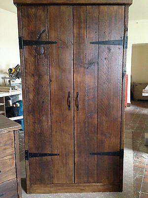 HandMade Chunky Rustic Reclaimed Wood Plank Double Wardrobe Warm Oak Finish in Home, Furniture & DIY, Furniture, Wardrobes | eBay