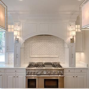 Hood and lights and cabinets.