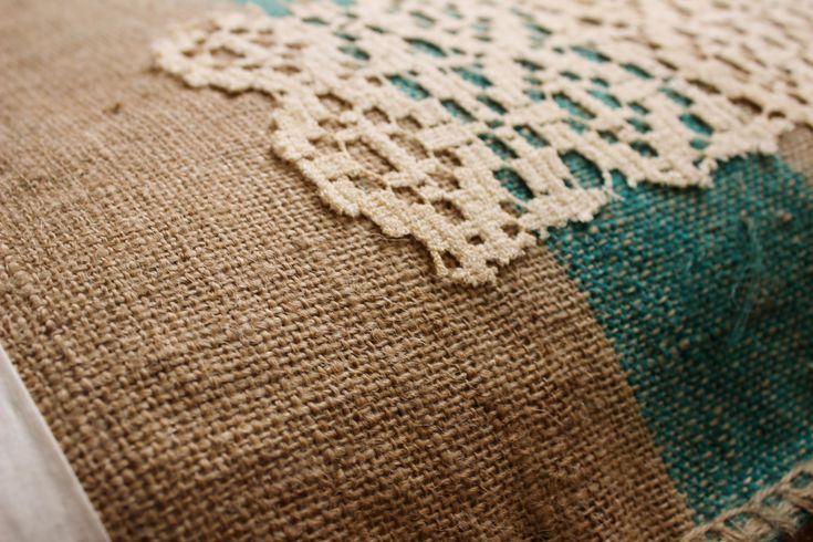 Maxi cuscino _ Juta, cotone, metallo, acrilico