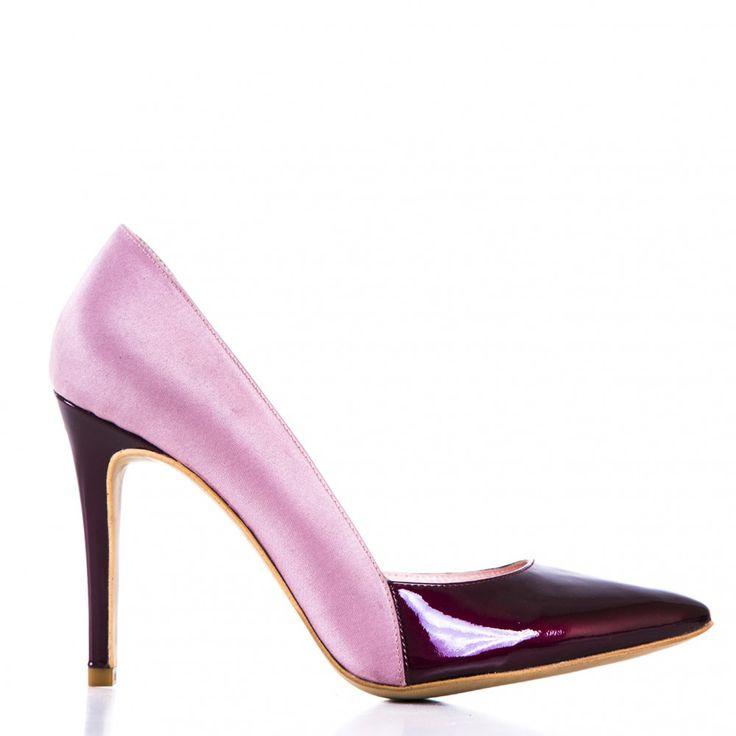 #CONDURbyalexandru #Shoes #2015 #Spring #Summer@1400 Lac bordo cu saten roz