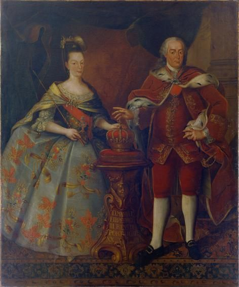 Queen Maria I and Pedro III (her oncle and husband) - National Museum of Carriages