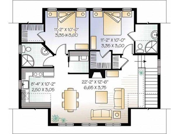 Craftsman plan 2 level 2 of garage with 2 bedroom apt for Garage apartment plans 4 bedroom