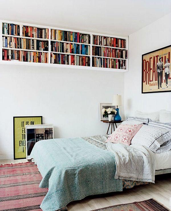 Klein behuisd #6 hoge planken voor extra opbergruimte