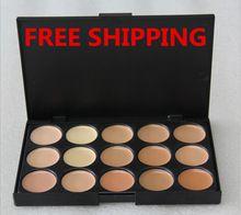 Hot 2 Color elegir! 15 colores corrector paleta Neutral 15 herramientas de maquillaje de Color crema cicatrizante cara del camuflaje de Concealer maquillaje marca(China (Mainland))