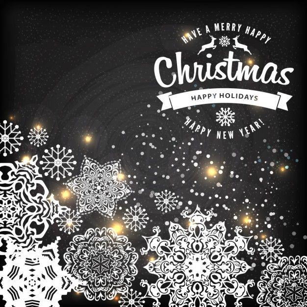 Christmas snowflake background Free Vector