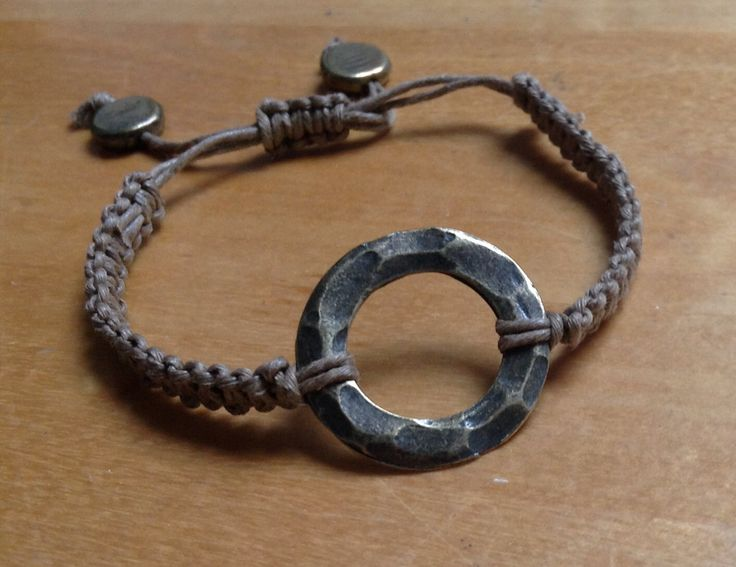 bracelet macrame taupe