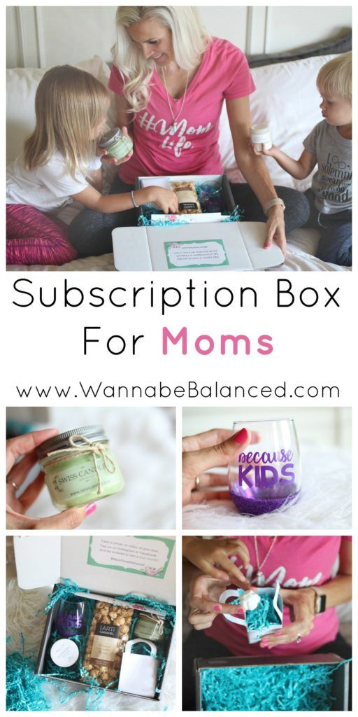 Treat yourself or a friend with a subscription box for moms.