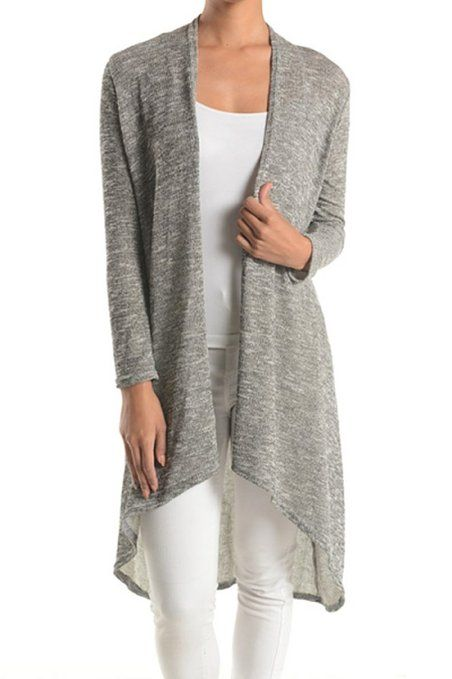 Modern Kiwi Solid Essential Long Cascading Cardigan at Amazon Women's  Clothing store: