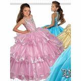 Ritzee Girls Keyhole Organza 7361 Pageant Dress