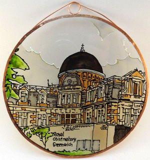 Royal Observatory Greenwich Grafika: Navratil Zsuzsa Üvegre kivitelezte: Kőrösi Andrea Átmérő: 15 cm