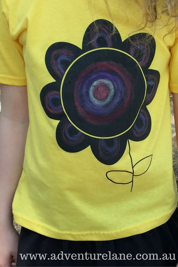 Draw. Wipe Clean. Repeat. Flower design Chalkboard Tees now available in sizes 3-12 years.