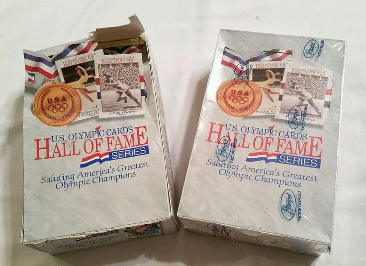 Lot of 2 boxes U.S. Summer Olympic Cards Hall of Fame Series (1 box sealed) USA