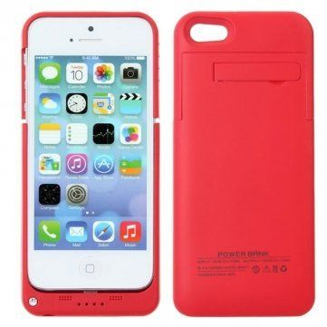 Red coloured iPhone 5 5s and SE power charging cases available from our online webstore