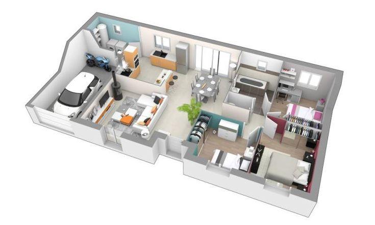 42 best Maison plein pied images on Pinterest Architecture, Floor
