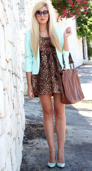 cheeta!: Mint Cheetahs, Leopards Prints Dresses, Outfit, Mint Chocolates Chips, Leopards Cheetahs, As Blazers, Animal Prints, Cheetahs Prints Dresses, Leopards Dresses