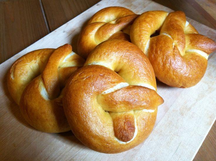 german-style homemade pretzel