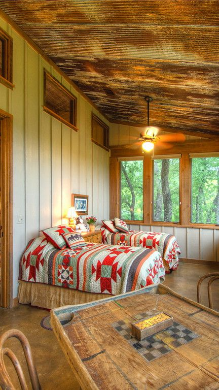 Love this sleeping porch! What couple or kids wouldn't want to sleep here?