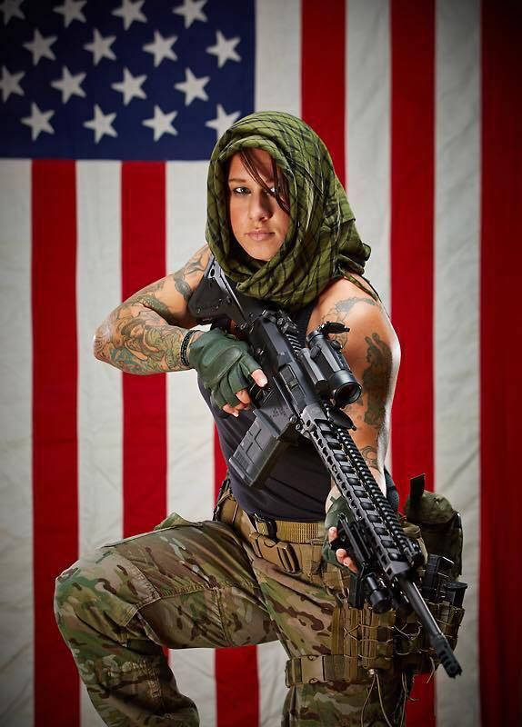 Kinessa Johnson - U.S. vet who spent four years in Afghanistan. She now lives and works in Africa, protecting endangered species from illegal poaching. She essentially hunts the poachers :-) BAD ASS LADY