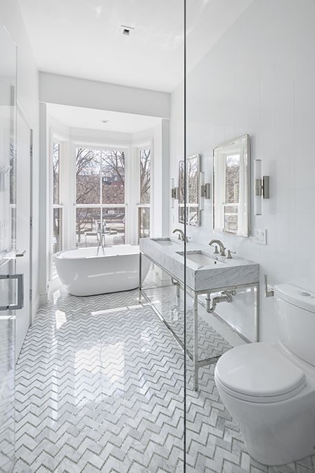Give your bathroom timeless appeal with an all white ...