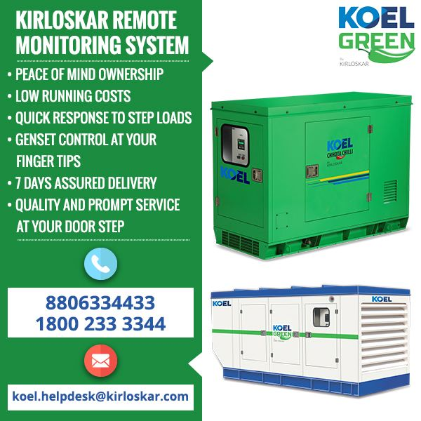 KOEL Green petrol generators are popular for their portability and user-friendliness. Portable generators are perfect for residential use. It's crucial to have uninterrupted power supply if you are renting your villa out. The next time you plan to buy petrol generator, you would want to take a look at the inventive and indigenously produced petrol generators for sale by KOEL Green at http://koelgreen.com/petrol-generator