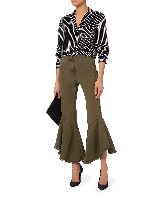 Cinq à Sept Wysteria Cropped Frill Pants