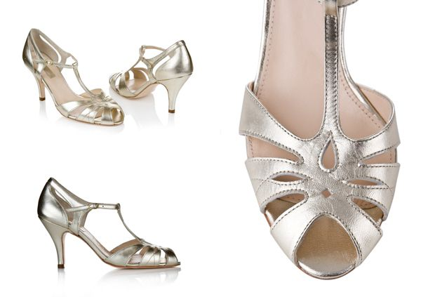 Ginger Rogers inspired dance/wedding shoes.   From the 2014 collection of wedding shoes by Rachel Simpson