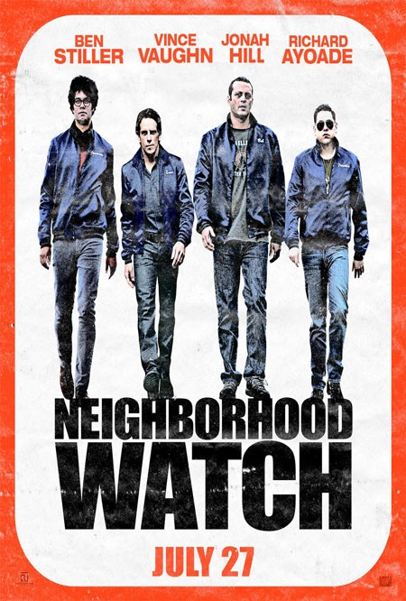 Ben Stiller, Vince Vaughn and Jonah Hill are on a mission in this poster for NEIGHBORHOOD WATCH.: Movie Posters, Richard Ayoade, Ben Stiller, Neighborhood Watches, Watches 2012, Jonah Hill, Watches Movie, Vince Vaughn, Movie Trailers