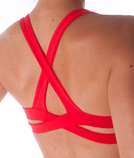Bellissima Strappy Back yoga bra for under my life guard suit..maybe one strap will show? i must order this!!