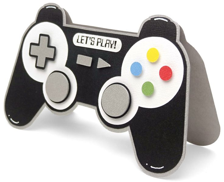 Video Game Controller Shaped Card by Pazzles DT member Joanna Wright. Cutting files available in the Pazzles Craft Room in WPC, SVG file formats.