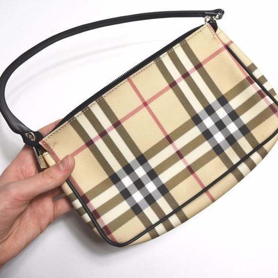 Authentic Vintage Burberry Nova Check Pochette Mini Bag 90s Vintage Bags Burberry Bag Mini Bag