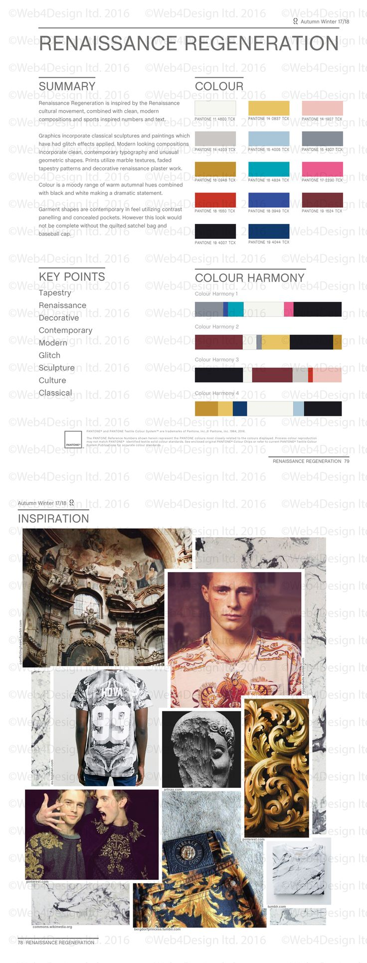 Style Right Renaissance Regeneration AW1718 Trend Board