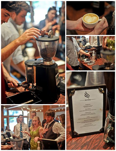 50 best images about dessert reception ideas on pinterest for Coffee bar at wedding reception