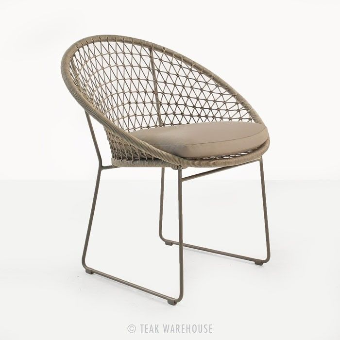 Natalie Rope Outdoor Dining Chair (Taupe) - Dining Chairs - Dining