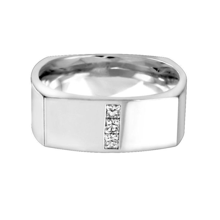 Buy White Gold Diamond Square Band Online In Canada