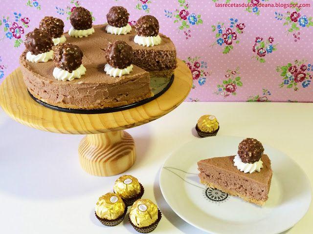 Las recetas dulces de Ana: Tarta cremosa de Ferrero Rocher para mi cumple!!