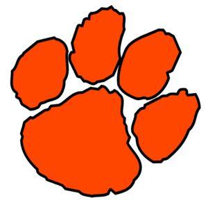 Orange Paw Cut image - vector clip art online, royalty free & public domain