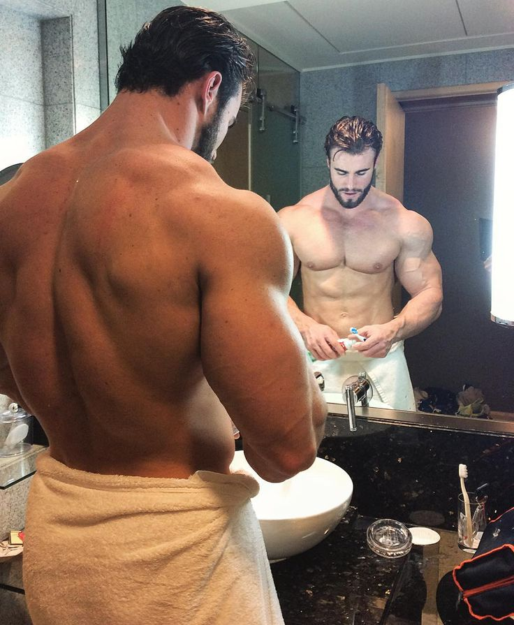 Just a gorgeous dude brushing his teeth.  NBD.     ;)       DILFs Next Door: The Younger Side Of Daddy