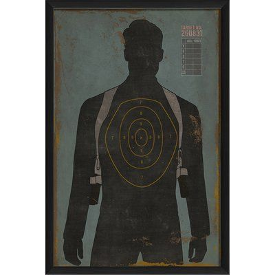 Male Human Target Framed Graphic Art