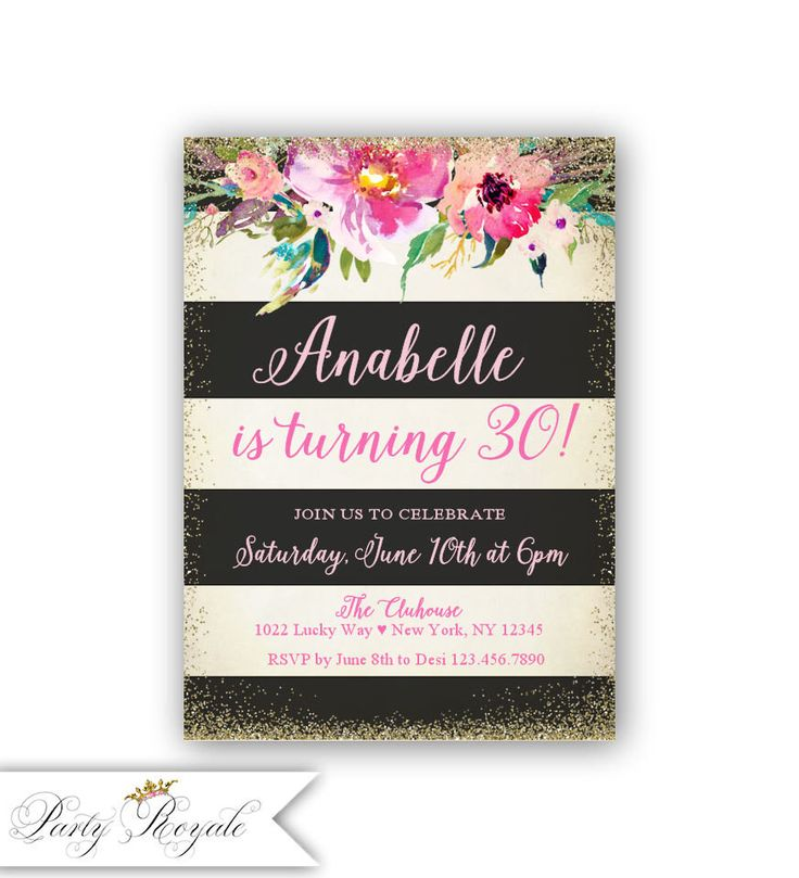 25+ bästa 30th birthday invitations idéerna på pinterest, Birthday invitations