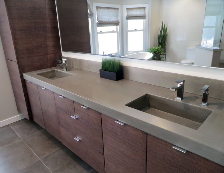 43 best images about custom concrete bathroom sinks for Modern bathroom countertops
