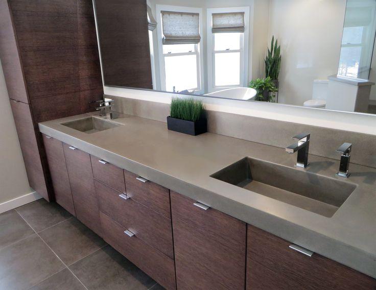 43 best images about custom concrete bathroom sinks - Custom bathroom countertops with sink ...