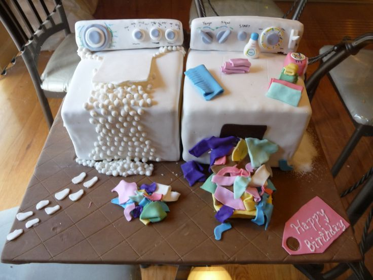 Best Cake Designs For Mother : Washing Machine and Dryer - This cake was for a mother who ...
