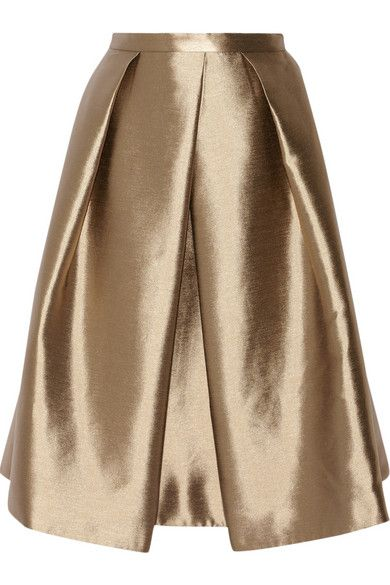 Tibi gold skirt