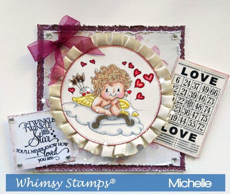 Whimsy Stamps Cupid On a Cloud