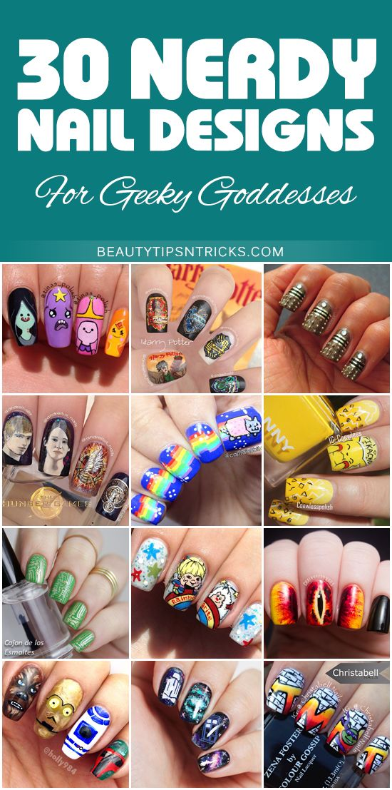 30 amazing nerdy nail designs to make your inner geek goddess squeal (and maybe snort) with delight!