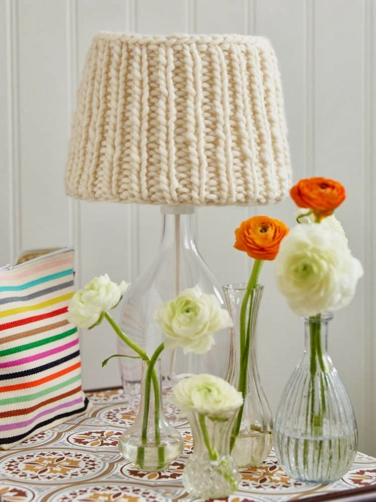 DIY: a knitted lampshade!