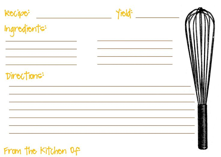 76 best Craft printables recipe cards images on Pinterest - recipe card