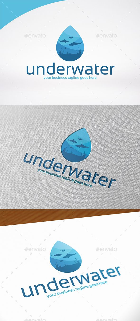 Underwater World  Logo Template - Symbols Logo Templates