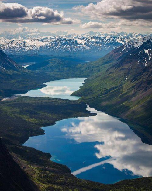 paulzizkaphoto:  Lake Kathleen and Louise act as giant mirrors...