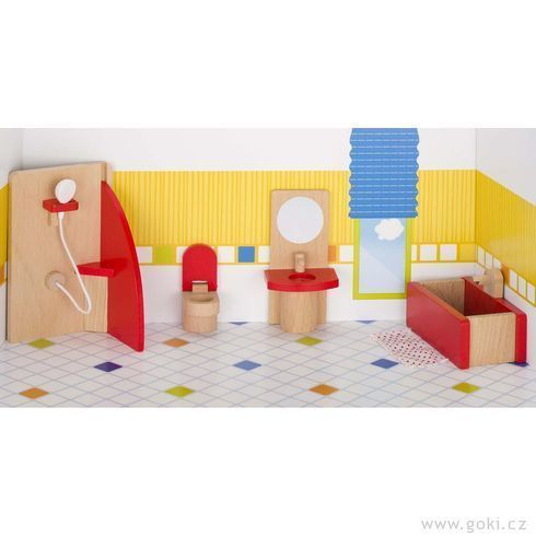 Nábytek pro panenky – koupelna BASIC - DesignProDeti.Cz